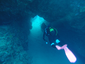 diving the blue hole lanzarote