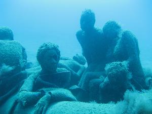 diving the museum statues playa blanca